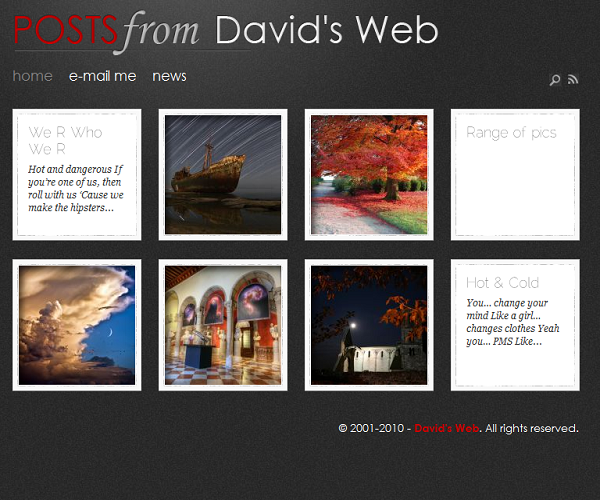 Posts from David's Web