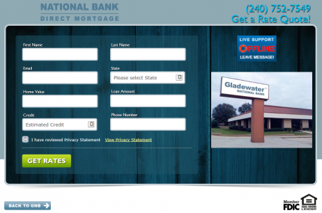 Loan Officer Landing page